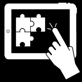 puzzle ordinateur tablette picto autisme